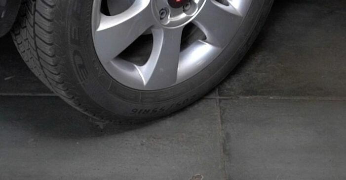 Wie kompliziert ist es, selbst zu reparieren: Bremsbeläge am Octavia 1z5 1.6 2010 ersetzen – Laden Sie sich illustrierte Wegleitungen herunter