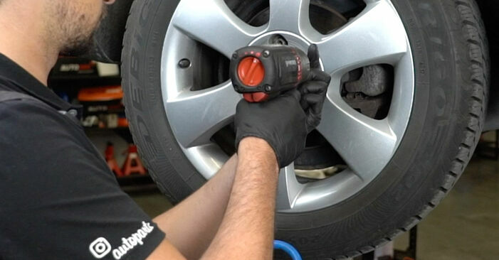 How to remove SKODA OCTAVIA 2.0 TDI 4x4 2008 Brake Pads - online easy-to-follow instructions