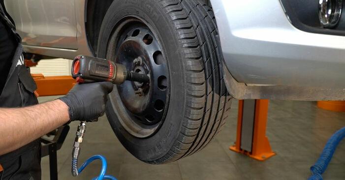 Wie FORD FIESTA 1.4 LPG 2012 Bremsscheiben ausbauen - Einfach zu verstehende Anleitungen online