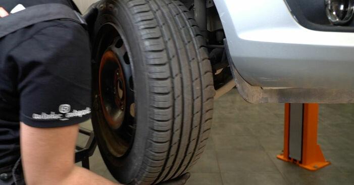 Bremsscheiben am FORD Fiesta Mk6 Schrägheck (JA8, JR8) 1.0 EcoBoost 2013 wechseln – Laden Sie sich PDF-Handbücher und Videoanleitungen herunter
