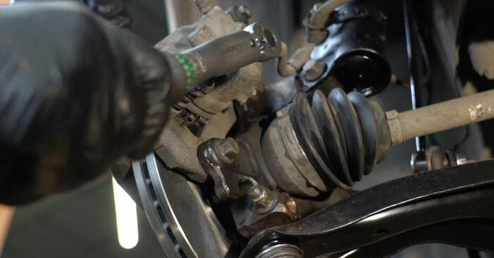 Wie Bremsbeläge FORD Fiesta Mk6 Schrägheck (JA8, JR8) 1.4 TDCi 2009 austauschen - Schrittweise Handbücher und Videoanleitungen