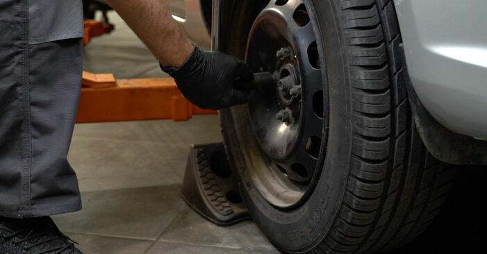 Bremsbeläge Ford Fiesta ja8 1.6 TDCi 2010 wechseln: Kostenlose Reparaturhandbücher