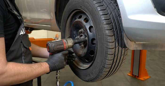 Wie FORD FIESTA 1.4 LPG 2012 Bremsbeläge ausbauen - Einfach zu verstehende Anleitungen online