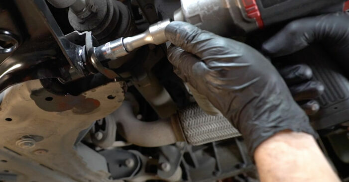 Wie schwer ist es, selbst zu reparieren: Querlenker Ford Fiesta ja8 1.4 2014 Tausch - Downloaden Sie sich illustrierte Anleitungen