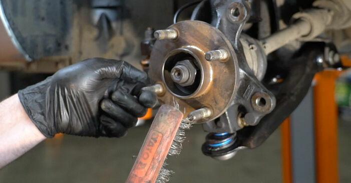 Como substituir FORD Fiesta Mk6 Hatchback (JA8, JR8) 1.25 2009 Rolamento da Roda - manuais e guias de vídeo passo a passo