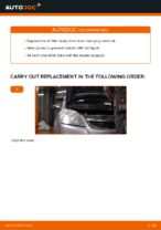 Changing Oil Filter OPEL ZAFIRA: workshop manual