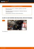 Milloin vaihtaa Takaluukun kaasuiskunvaimennin OPEL ZAFIRA B (A05): käsikirja pdf