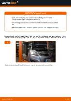 Hoe de achterste remblokken van schijfremmen vervangen op Opel Zafira B A05