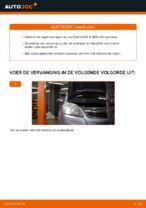 Wiellager vervangen OPEL ZAFIRA: werkplaatshandboek