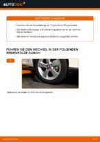 Wie ersetze ich eine vordere Koppelstange am Toyota Auris E15