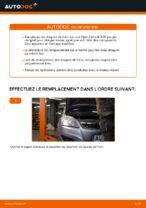 Montage Disque de frein OPEL ZAFIRA B (A05) - tutoriel pas à pas