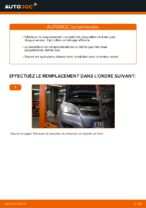 Changer Jeu de plaquettes de frein arrière et avant OPEL à domicile - manuel pdf en ligne