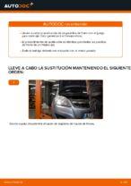 Cómo sustituir las pastillas de freno de discos trasero en Opel Zafira B A05