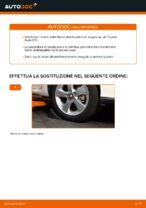 Come riparare un tirante frontale della barra stabilizzatrice su un' Toyota Auris E15