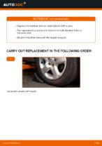 How to replace a front stabiliser link on Opel Zafira B A05