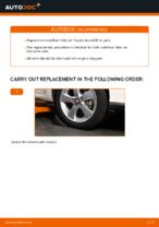 Step-by-step repair guide for Toyota Auris Estate
