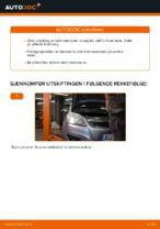 Hvordan skifte bakre bremseklosser på skivebrems på Opel Zafira B A05