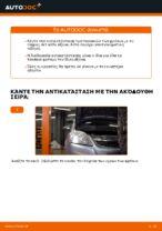 Πώς αντικαθιστούμε τα μπροστινά τακάκια των δισκόφρενων σε Opel Zafira B A05