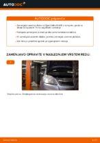 Kako zamenjati zavorne kolute na sprednjem delu pri Opel Zafira B A05