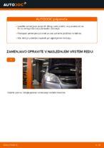 Kako zamenjati sprednje zavorne ploščice za kolutne zavore na Opel Zafira B A05