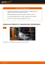 Kako zamenjati zavorne kolute na zadnjem delu pri Opel Zafira B A05