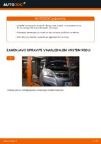 Kdaj zamenjati Zavorne Ploščice OPEL ZAFIRA B (A05): pdf navodila