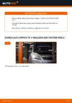 Kako zamenjati prednjo pesto na Opel Zafira B A05
