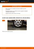 Online tasuta juhised kuidas vahetada Amort VOLVO V50 (MW)