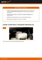 Vedligeholdelse TOYOTA manualer pdf