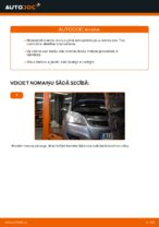 OPEL aizmugurē un priekšā Bremžu uzlikas nomaiņa dari-to-pats - tiešsaistes instrukcijas pdf