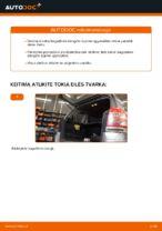 Kaip pakeisti bagažinės dangčio dujines spyruokles automobiliui Opel Zafira B A05