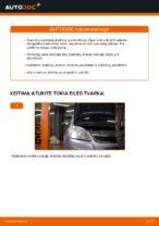 Kaip pakeisti priekinius stabdžių diskus Opel Zafira B A05