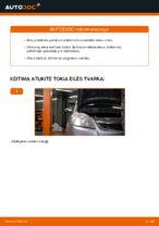 Kaip pakeisti priekinės pakabos amortizatoriaus statramstį Opel Zafira B A05