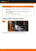 Kaip pakeisti galinio rato stebulės guolį Opel Zafira B A05