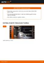 Kaip pakeisti priekinio rato stebulės guolį Opel Zafira B A05