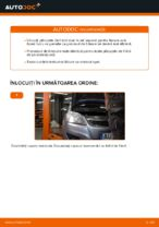 Cum se înlocuiesc plăcuțele din spate ale frânei cu disc Opel Zafira B A05