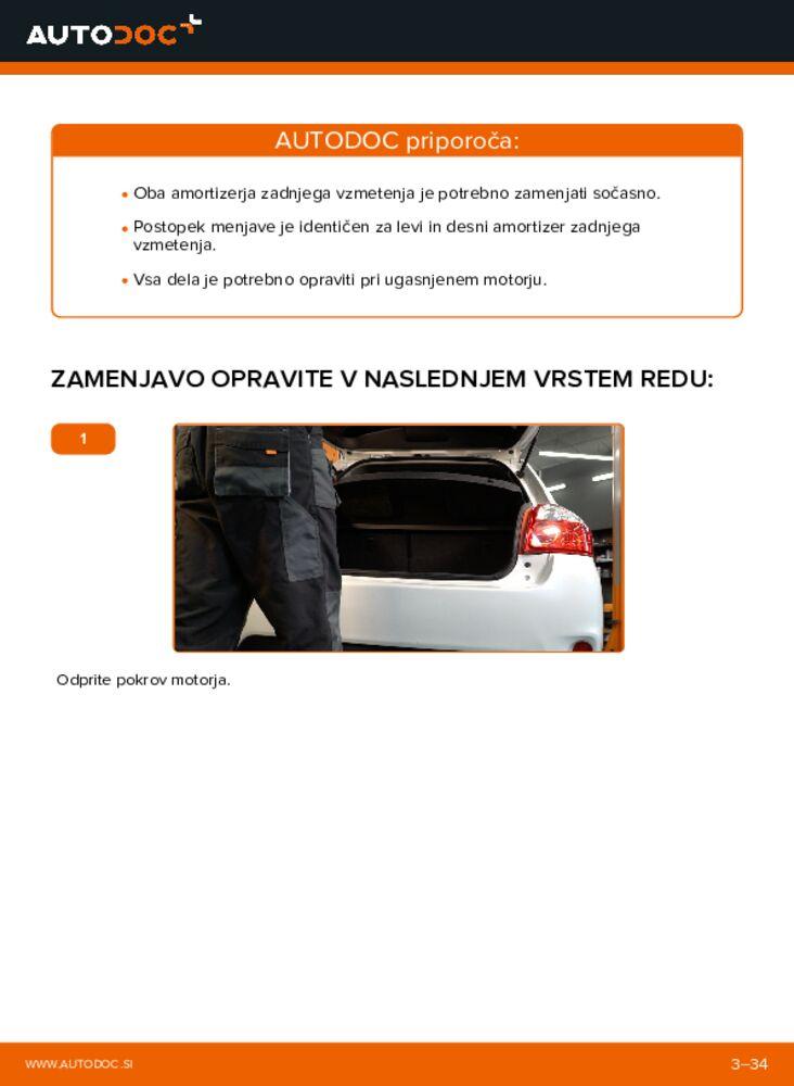 Kako izvesti menjavo: Blazilnik na 1.4 D-4D (NDE150_) Toyota Auris e15