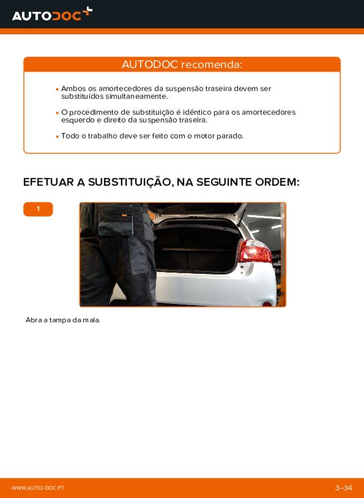 Como realizar a substituição de Amortecedor no 1.4 D-4D (NDE150_) Toyota Auris e15