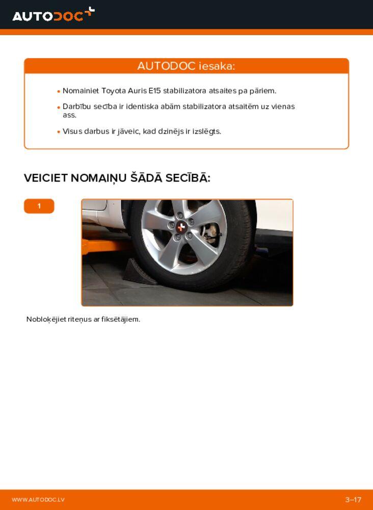Kā veikt nomaiņu: 1.4 D-4D (NDE150_) Toyota Auris e15 Savienotājstienis