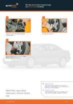 Wie Sie eine hintere Koppelstange am AUDI A4 В5 ersetzen