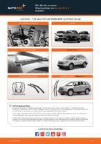 Wie Sie die vorderen Wischerblätter am Honda CR-V III ersetzen
