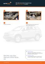 Wie Stabilisator Koppelstange hinten links beim HONDA CR-V III (RE) wechseln - Handbuch online