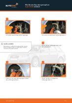 Wie Bremssteine hinten + vorne beim AUDI A4 Avant (8ED, B7) wechseln - Handbuch online