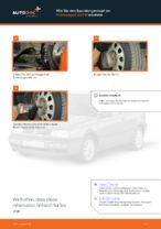 Wie Spurkopf beim VW GOLF III Cabriolet (1E7) wechseln - Handbuch online