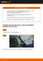 Wie Sie die vorderen Wischerblätter am FIAT PUNTO 188 ersetzen