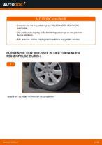 Wie der Austausch der hinteren Druckstangen beim Volkswagen Golf V (1K) funktioniert