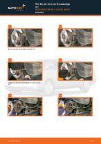 PDF Wechsel Tutorial: Bremsklötze MERCEDES-BENZ C-Klasse Limousine (W202) hinten + vorne