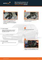 Wie Sie die Bremsbacken auf hinteren Bremstrommeln am Volkswagen Golf III ersetzen