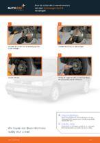 Hoe de achterste trommelremmen van een Volkswagen Golf III vervangen