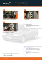 Hoe het spoorstangeinde van een Volkswagen Golf III vervangen